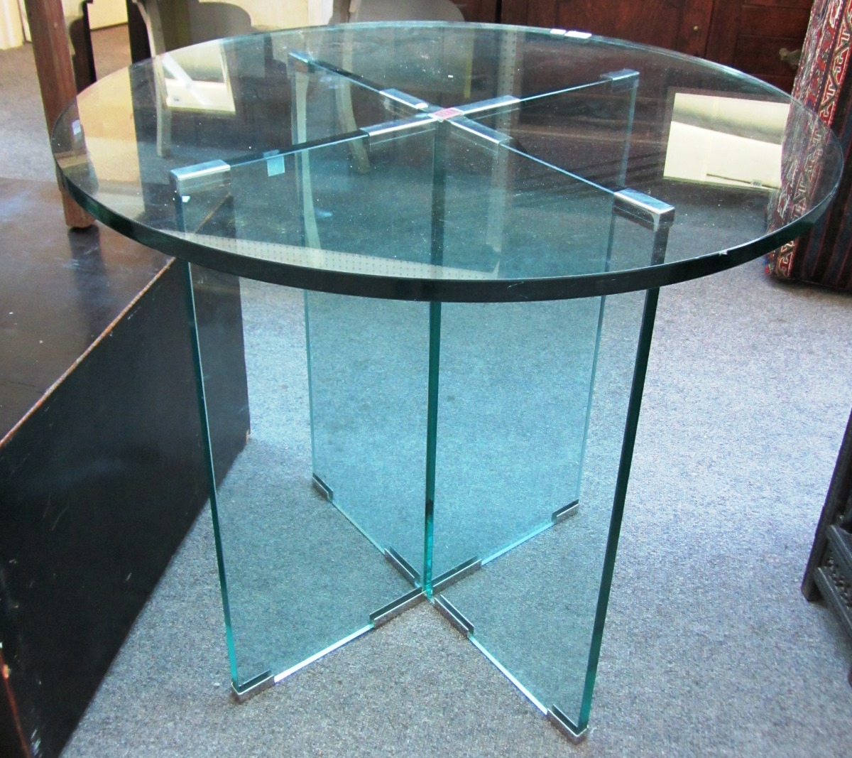 a 20th century glass table