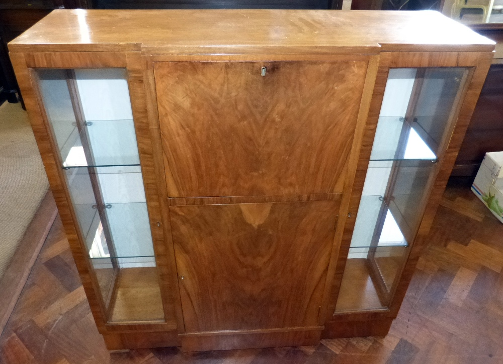 1930s kitchen cabinets walnut 1930 s bureau display cabinet condition report 10057