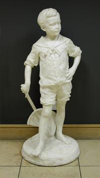 Lot 752 - Leon-Joseph Chavalliaud, (French 1858-1921) a late 19th century marble figure of a boy, signed L