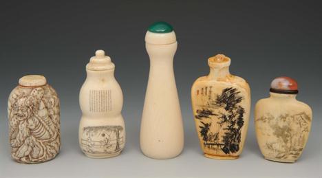 An ivory snuff bottle, 1850 1920