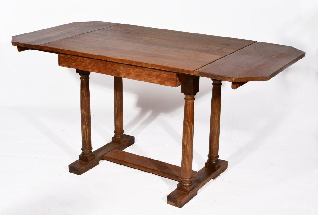 A HEALS STYLE OAK DROP LEAF TABLE with octagonal shaped  : 82 20148416387original from www.the-saleroom.com size 1024 x 694 jpeg 84kB