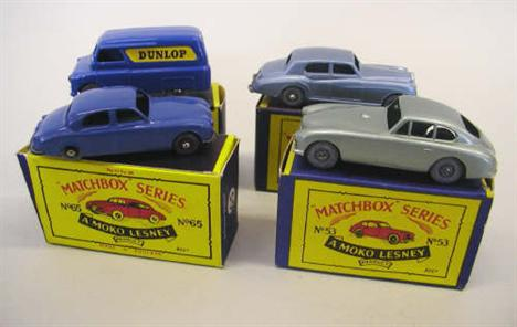 A collection of boxed Moko Lesney Matchbox series diecast vehicles