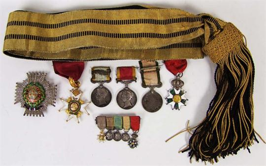 Lot 68 - The important group of orders and medals to Sir William Smart K.C.B., Naval Surgeon and latterly