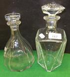 Lot 167 - Two Baccarat glass decanters and stoppers