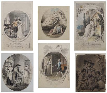 Lot 895 - A late 19th Century Scrap Album, containing a number of watercolours and drawings by different