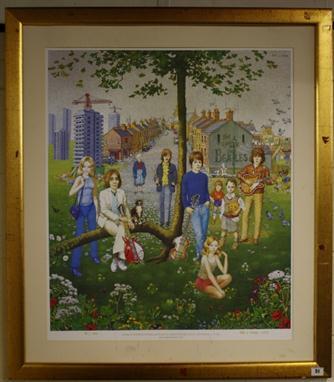 Large Ltd Edition framed print (74/1000) signed Peter Le Vasseur ...