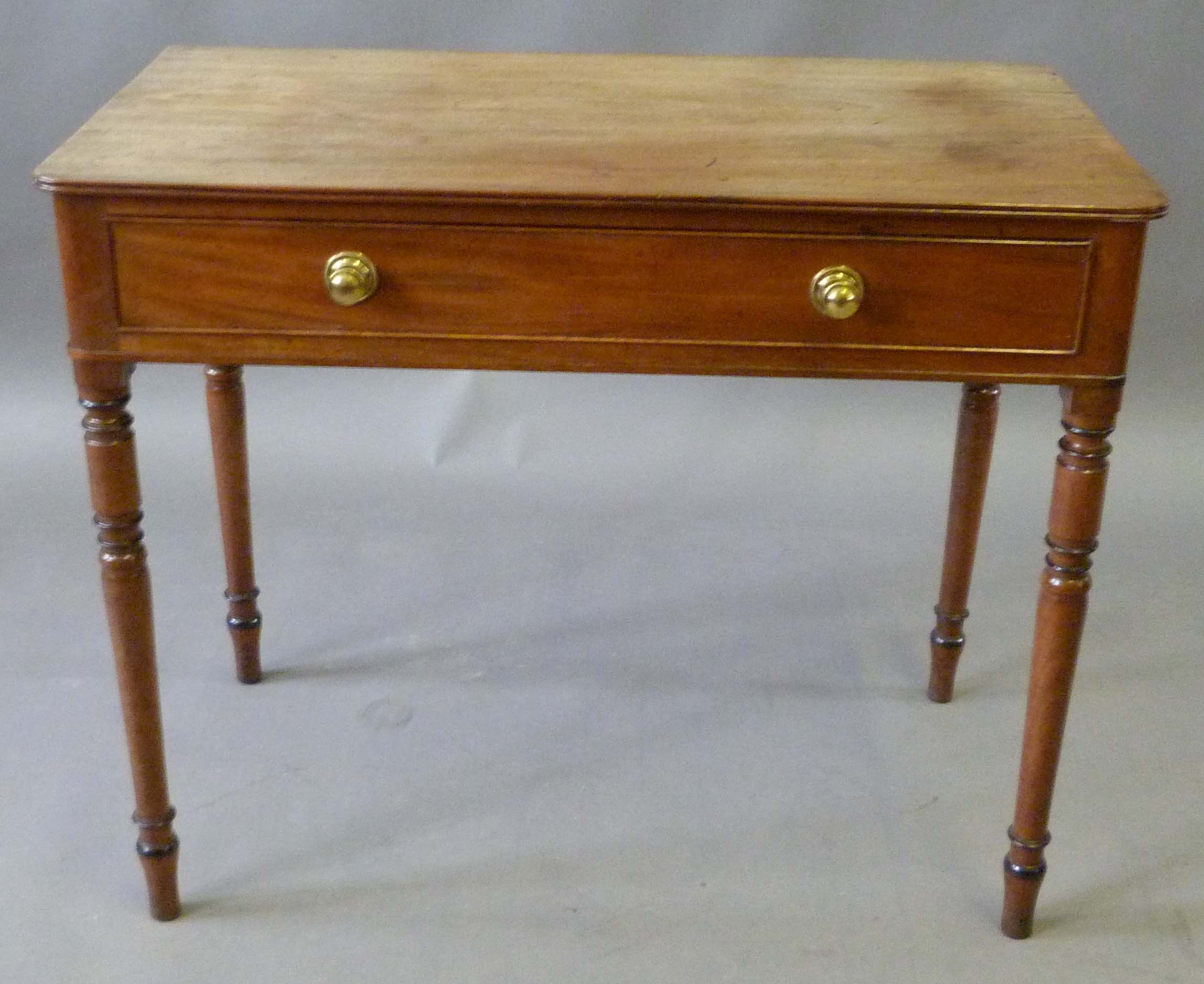 A george iv mahogany side table the rectangular top with for Table th rounded corners