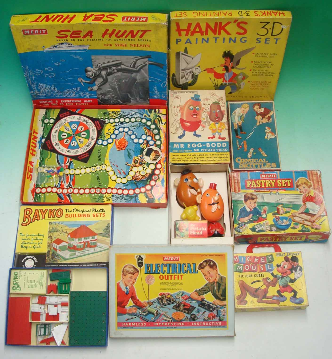 Collection Of 1950 60s Games To Include Merit Pastry