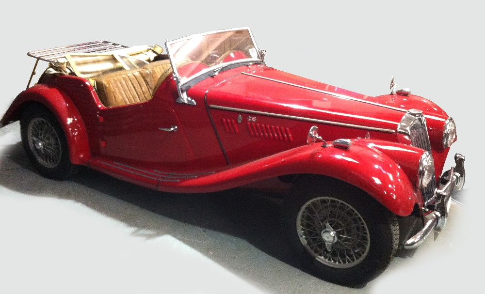 Lot 639 - A 1954 MG TF 1500 Roadster in red, registration UVK 40, 1250cc petrol engine No 5682, engine No