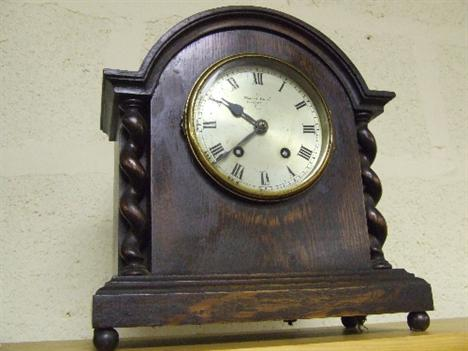 A 1920 S Oak Mantel Clock By Morath Brothers Liverpool