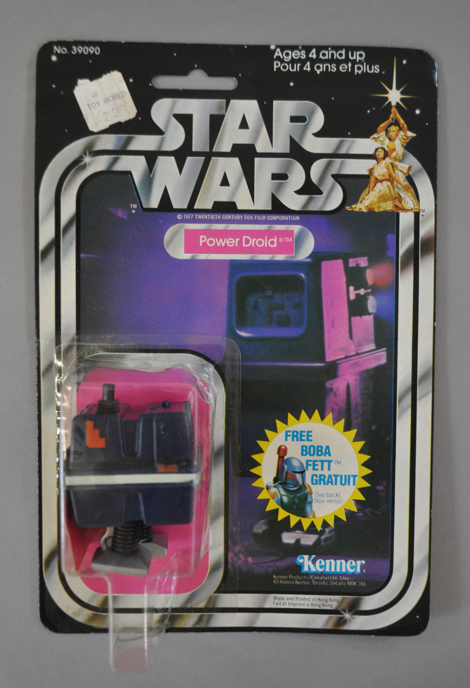 Car Lots In Kenner >> Kenner Star Wars Power Droid, E, sealed on a G 20 back card, hole punched, bubble clear but crus