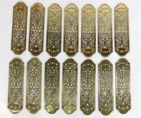 finger door plates antique door plates brass art nouveau. Black Bedroom Furniture Sets. Home Design Ideas