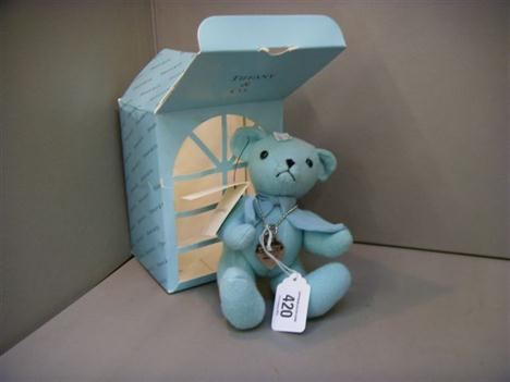An original Tiffany & Co  cashmere wool mix jointed teddy