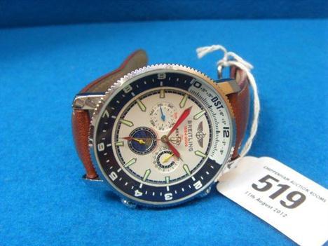 A Gentleman S Wristwatch Marked Breitling 1884 2006 For Bentley