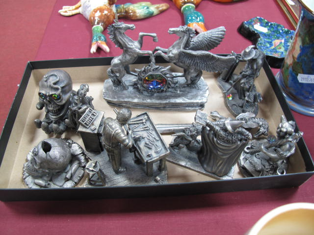 A Collection Of Pewter Evergreen Studio And Other Figures
