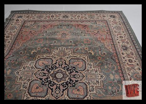 A Large Heriz 100 Wool Rug From The