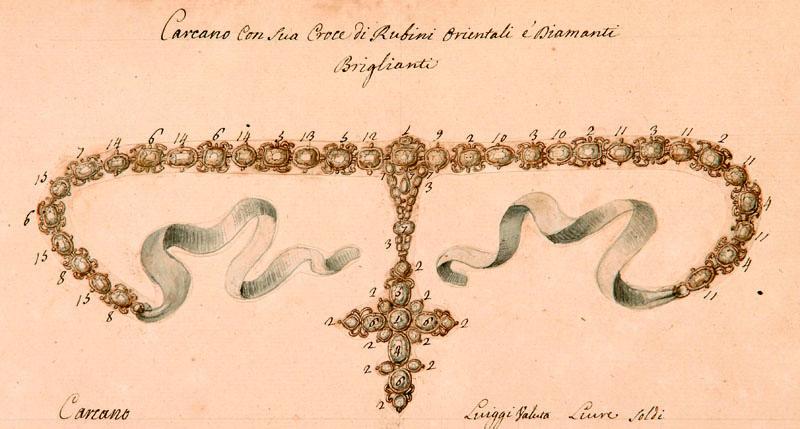 Lotto 580 - Storia Locale - Piemonte  I gioielli di casa Savoia Carignano.  [Torino, secolo XVIII]. In 2° (